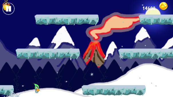 last runner Winter Scene